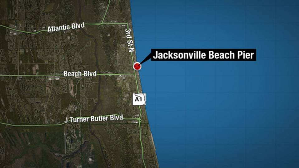 Map - Jax Beach Pier