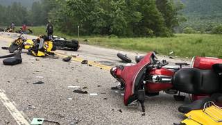 Motorcyclists killed in collision with pickup truck were