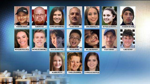 who were the victims of the parkland school shooting