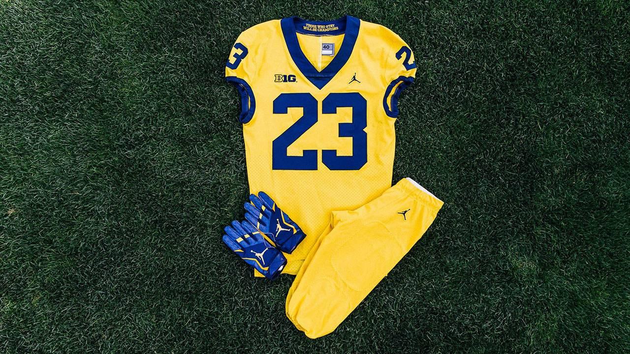 0e872adfb9d902 Michigan to open 2017 football season wearing all-maize uniform