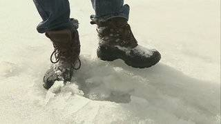 Michigan state fire marshal warns people to stay off the ice -- it's melting