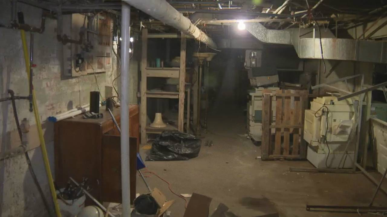 Basement of former Cantrell Funeral Home in Detroit