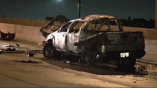Good Samaritans talk about rescuing mother, child after fiery crash in SW Houston