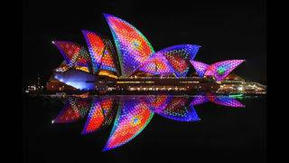 Photos: Festival features light installations in Sydney