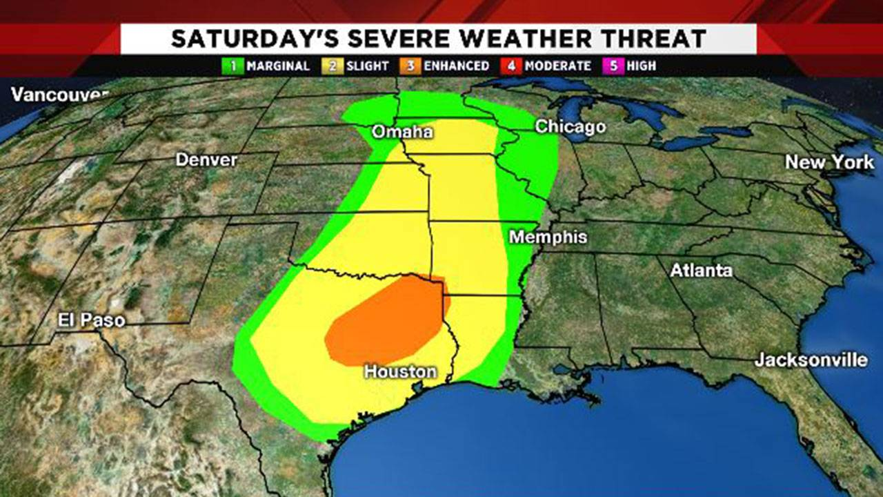 Severe weather threat map 5-16-19