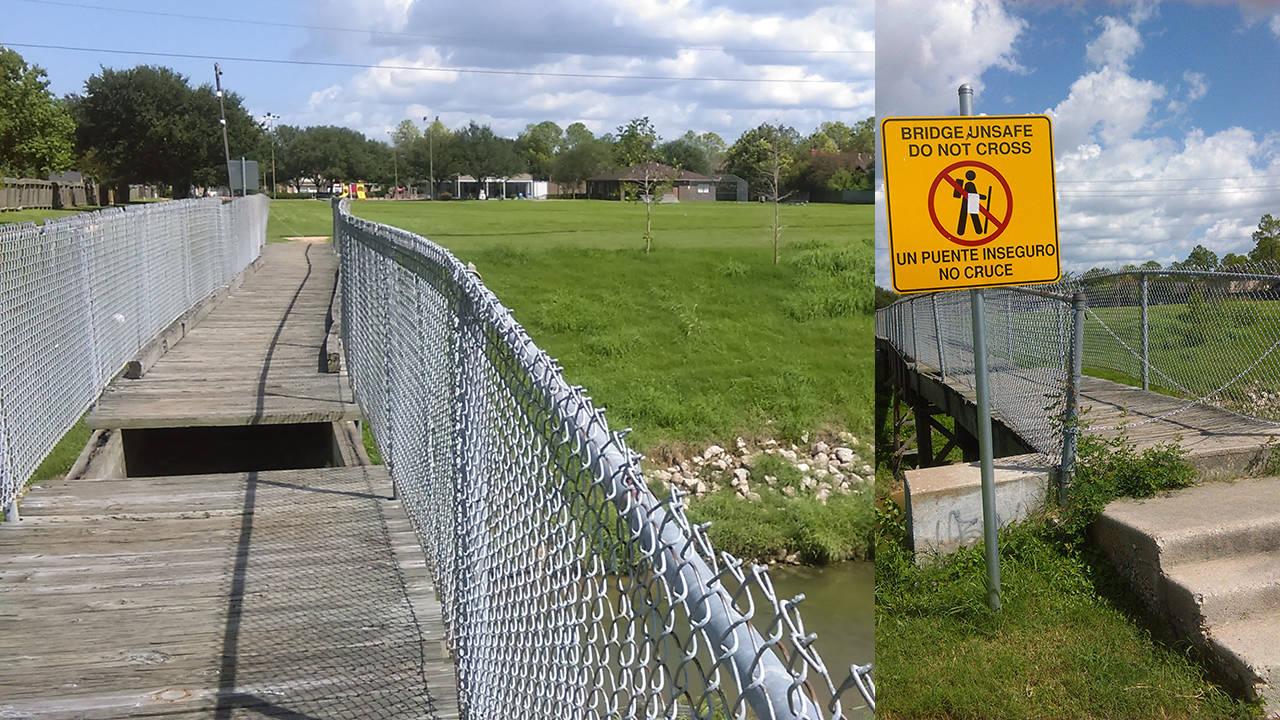 Missouri City dilapidated bridge torn down