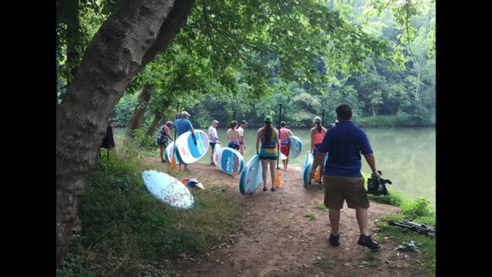 STand up Paddle boarding on the Roanoke River_49271