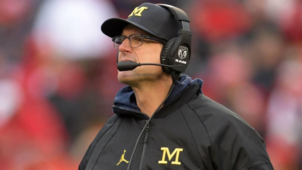 Jim Harbaugh Michigan football vs Wisconsin 2017