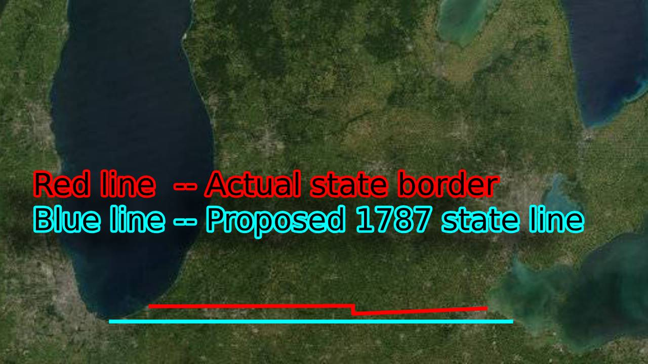 Michigan border changes map