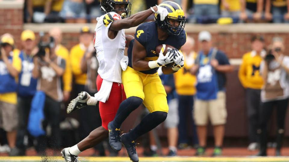 Nico Collins Michigan football vs Maryland 2018