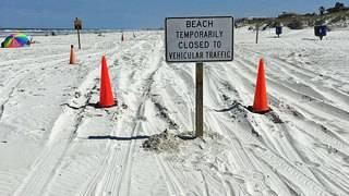Beach driving prohibited between Crescent Beach & Fort Matanzas