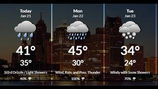 Metro Detroit weather: Relatively mild with rain possible Sunday