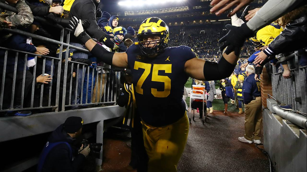 Michigan football LT Jon Runyan 2018