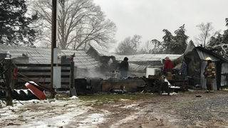 Barn destroyed in early morning fire in Campbell County