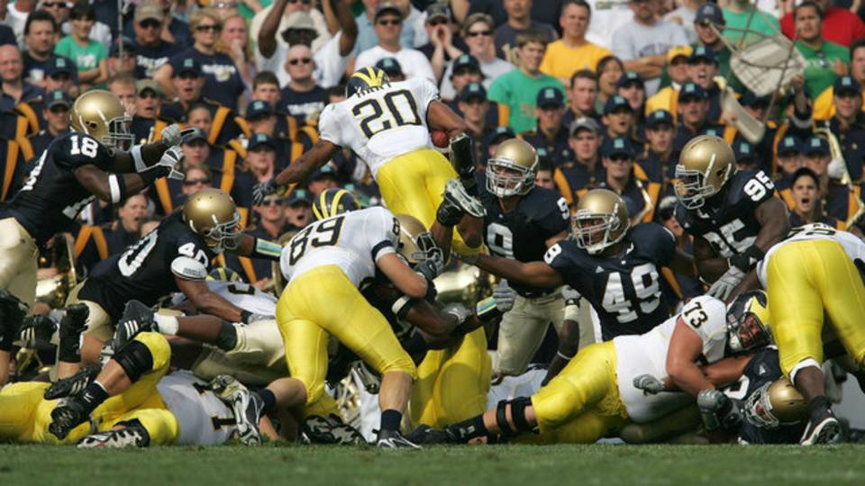 Mike Hart touchdown Michigan football at Notre Dame 2006