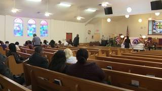 Family, friends bid farewell to grandmother killed in dispute over dog