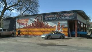 Houston Astros mural painted in The Heights