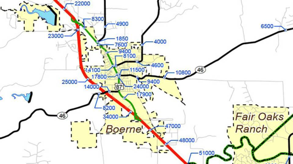 Boerne traffic count numbers
