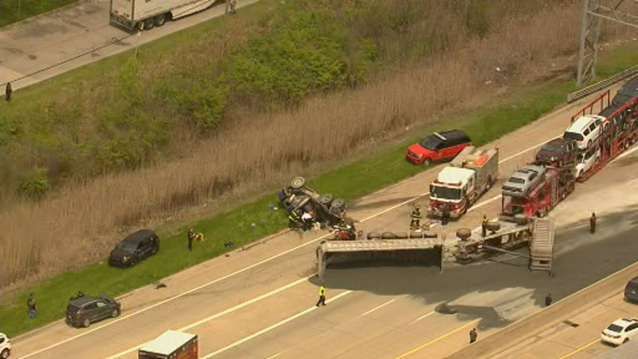Gravel hauler crash I-75 2