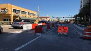 Hollywood business owners say construction along A1A is driving away customers