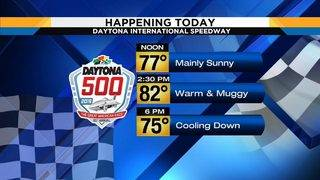 Cars and warm temperatures race into Central Florida for Daytona 500