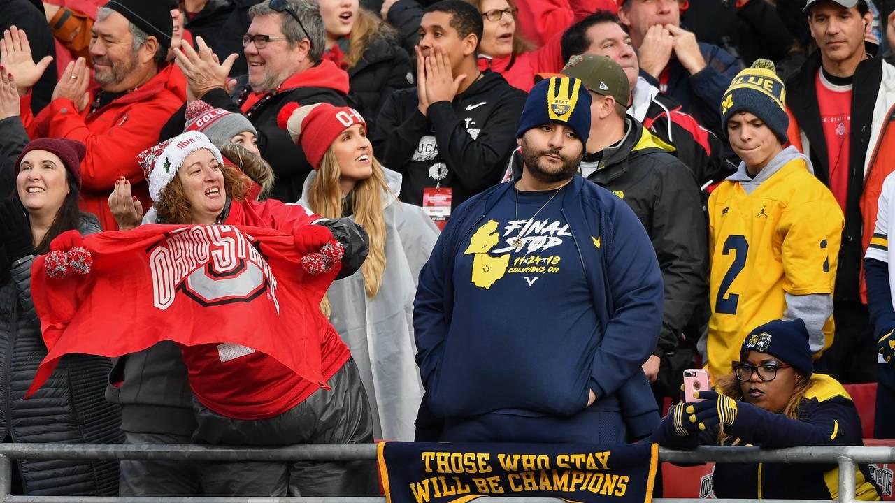 Michigan fans vs Ohio State 2018