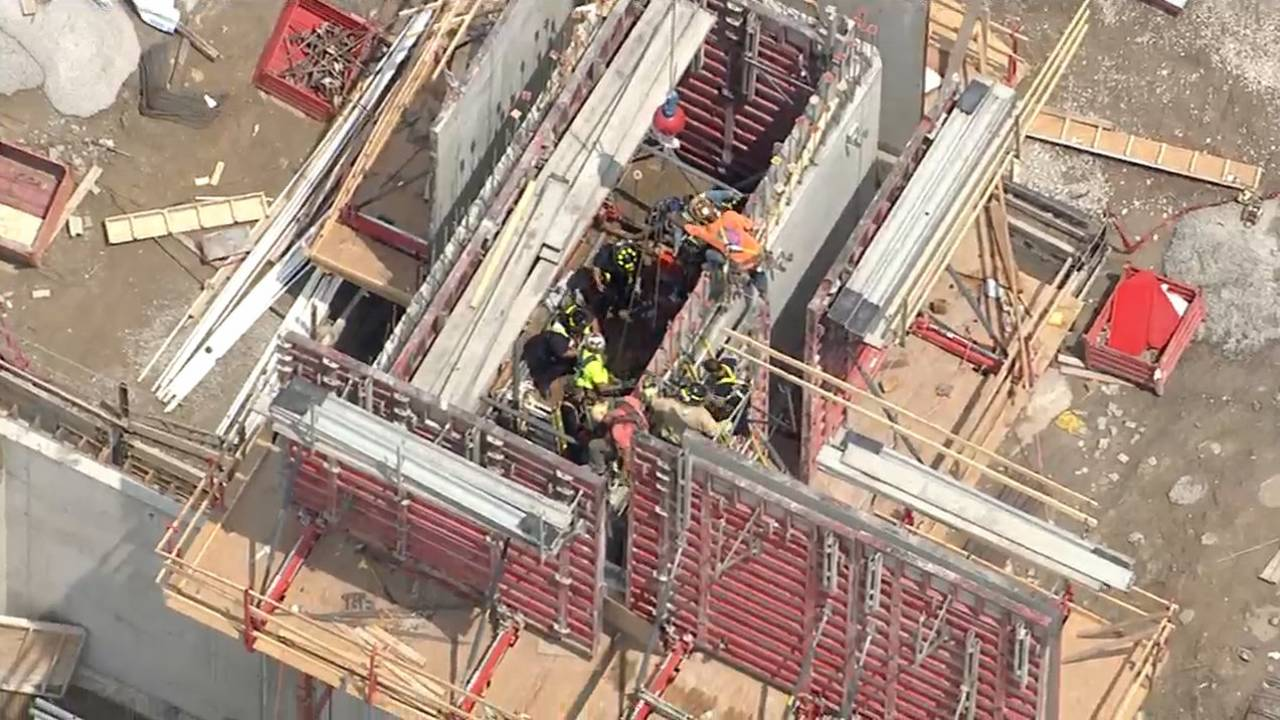 VIDEO: Man rescued from Beaumont Hospital construction site
