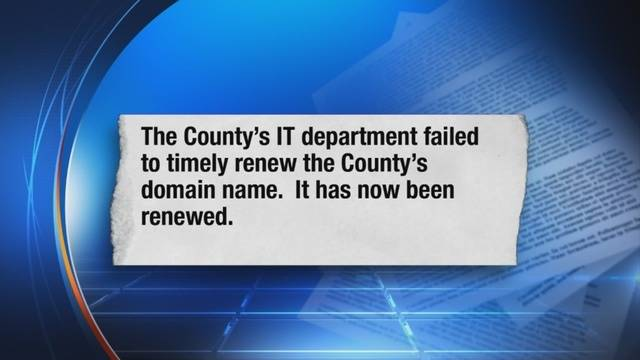 Wayne County website down due to domain name renewal
