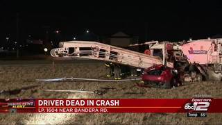 Driver killed in Northwest Side crash on Loop 1604 near Bandera Road