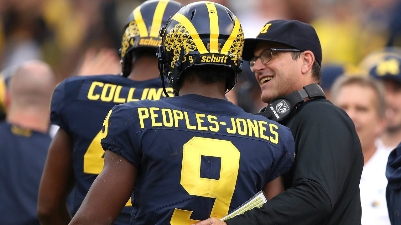 Jim Harbaugh Donovan Peoples-Jones Michigan football vs Maryland 2018