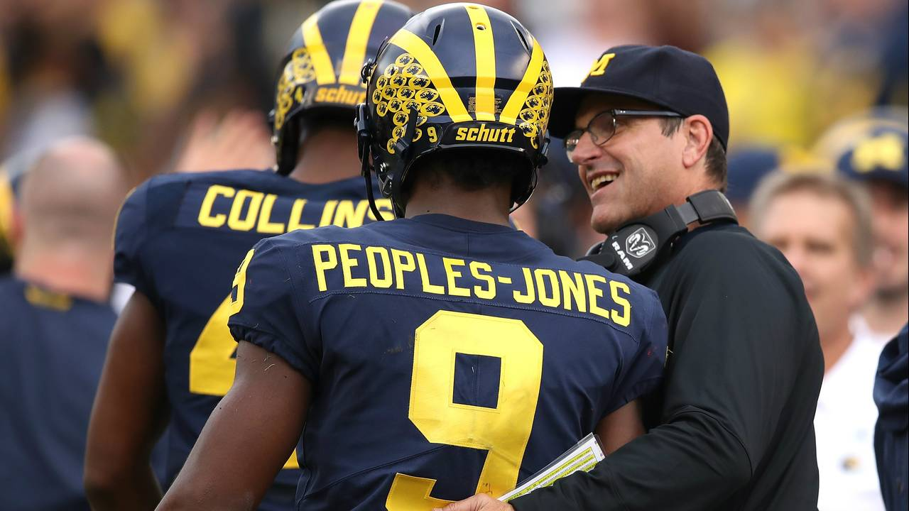 Jim Harbaugh Donovan Peoples-Jones Michigan football vs Maryland 2018