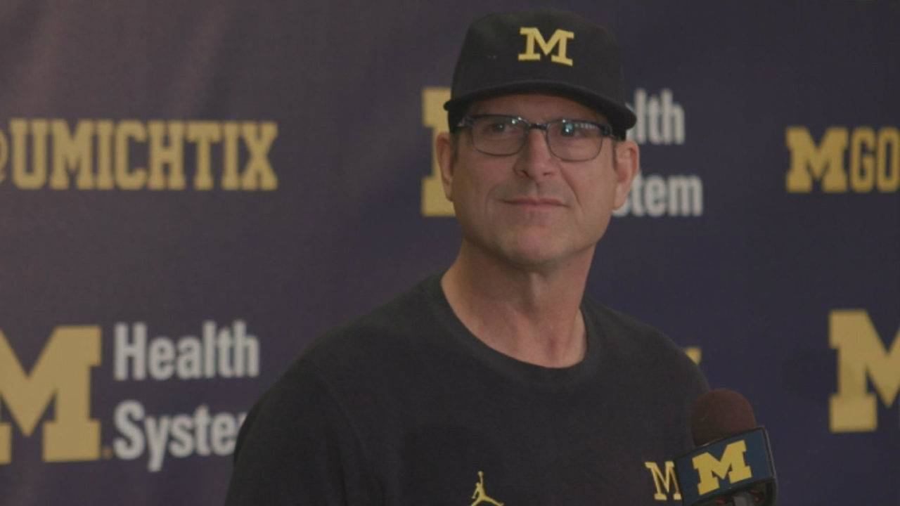 Watch Jim Harbaugh Michigan Football Players Speak Before