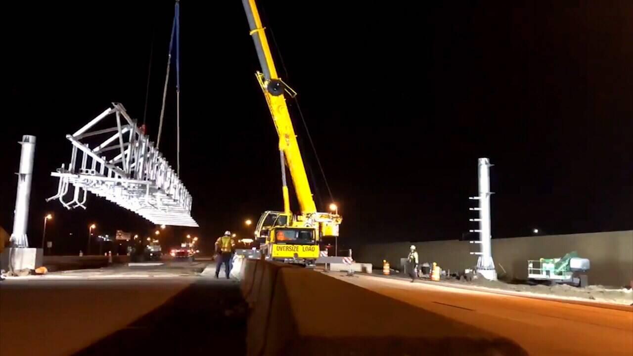 Jacksonville sunpass being put in