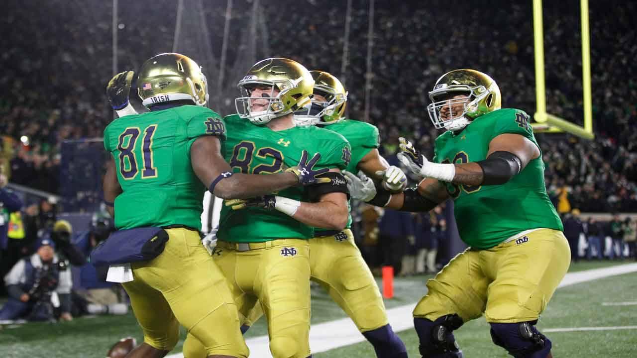 Notre Dame Fighting Irish uniforms 2018