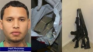 Convicted felon caught with 4 firearms, narcotics, more than $83K near…
