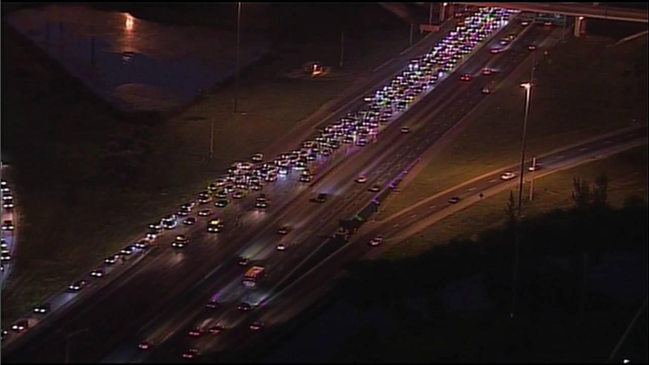 Palmetto Expressway closed view from Sky 10