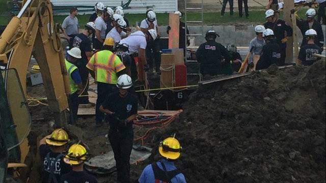 Trench rescue Chesterfield Township ground