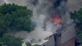 PHOTOS: Firefighters battle massive apartment blaze in west Houston