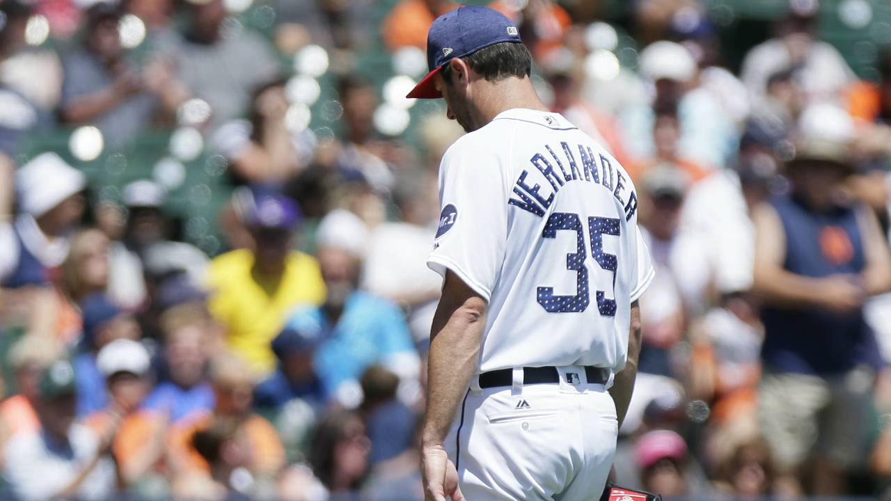 Justin Verlander Fourth of July Tigers Giants