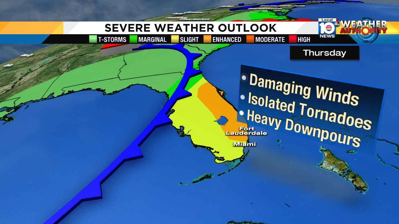 Threat for severe weather now over for South Florida