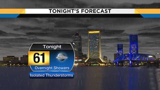 After a gorgeous, warm day showers and thunderstorms move through overnight