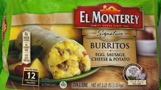 Ruiz Food recalling 25 tons of frozen breakfast burritos