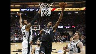 Bagley's career-high 24 points lead Kings past Spurs 127-112