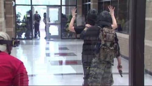 Drill simulates active shooter on school campus