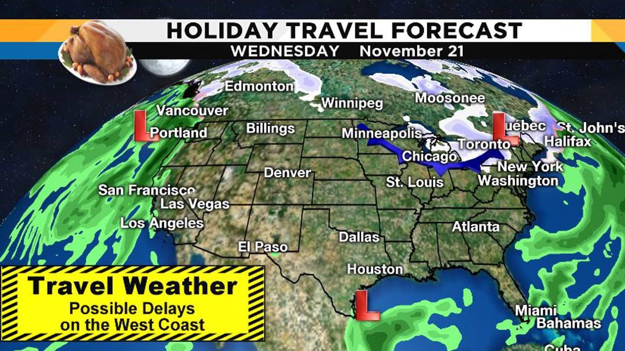 Flight travel forecast Nov. 21, 2018