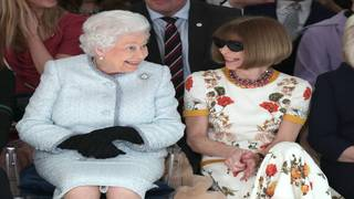Queen Elizabeth joins Anna Wintour on front row of London Fashion Week