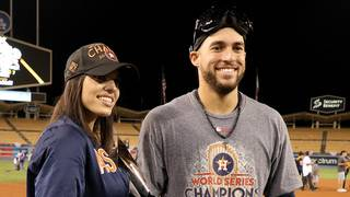 George Springer's wedding brings two opponents back together