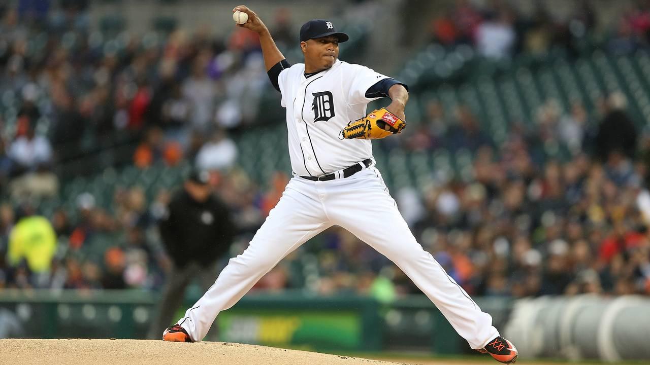 Alfredo Simon Detroit Tigers vs Yankees 2015
