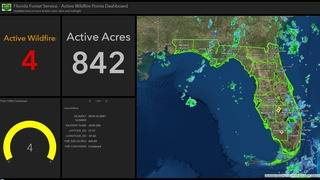 Recent rainfall keeping Florida's wildfires at bay
