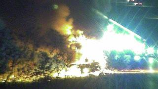 Vehicle catches fire on Florida's Turnpike in Osceola County